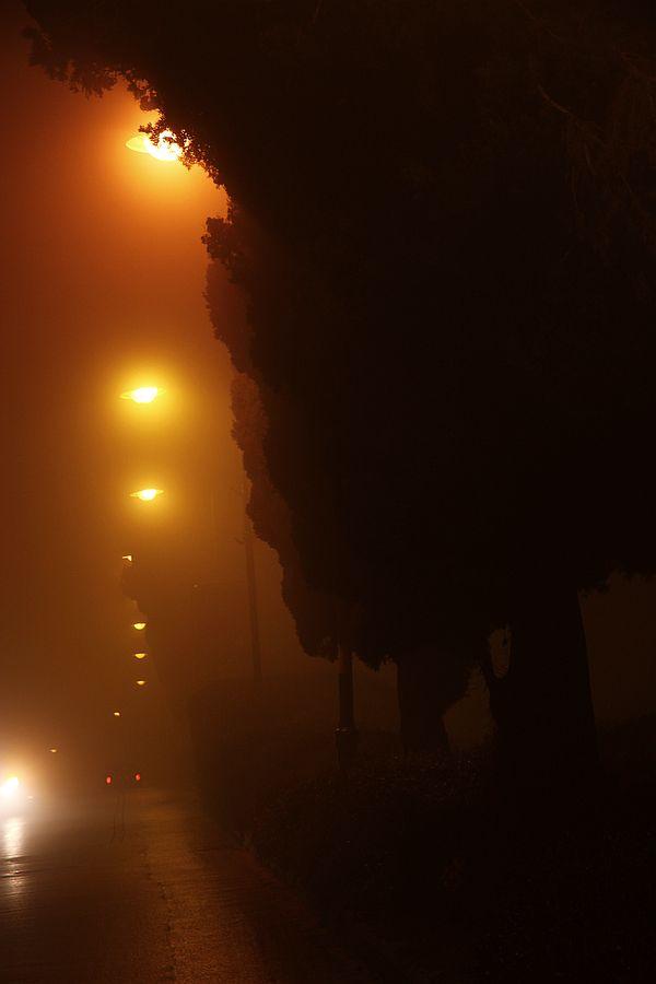 Foggy Night  | fine  art photograph by Smadar Barnea | E20-1501-25-3619
